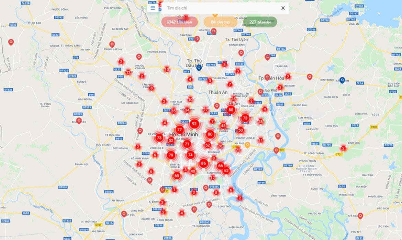 Bản đồ số kết nối người muốn nhận và cho nhu yếu phẩm
